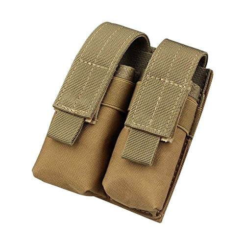 Gexgune Hunting Magazine Bag, Nylon mag Pouch Tactical Double Molle Pistol Magazine Pouch for 1911 Glock 9mm (2 Colores Opcionales)