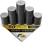 X-bet MAGNET™ 50 Stück Kühlschrankmagnete - 2,5 cm Magnete rund – Ferrit Magnete stark - Magnete Klein perfekt für Whiteboard, Pinnwand, Magnettafel, Haftmagnete, Kühlschrank Magnete