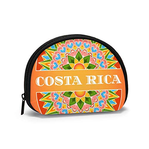 Costa Rica Traditional Art Deco Holiday Coin Purse Change Cash Bag Zipper Small Purse Wallets Cosmetic Bag Storage Bag