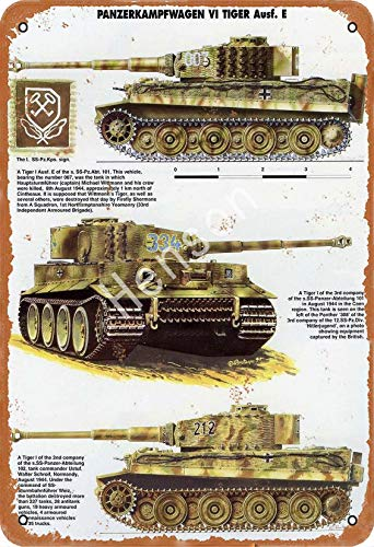 GenericBrands Panzerkampfwagen Vi Tiger Tank VintageTinSignArtIronPaintingRustyPosterDecorationAluminumplaqueForHotelCafeSchoolOfficeGarage