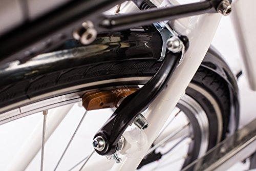Telefunken E-Bike Elektrofahrrad Alu, weiß, 7 Gang Shimano Nabenschaltung – Pedelec Citybike leicht, Mittelmotor 250W und 10Ah/36V Lithium-Ionen-Akku, Reifengröße: 28 Zoll, Multitalent C750 Bild 6*