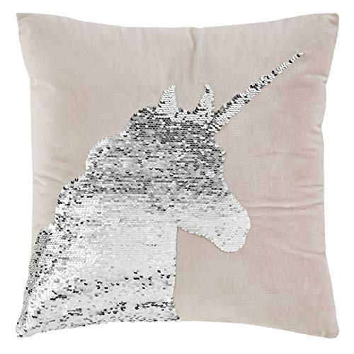 Catherine Lansfield Sequin Unicorn Cushion Cover 43x43 Pink