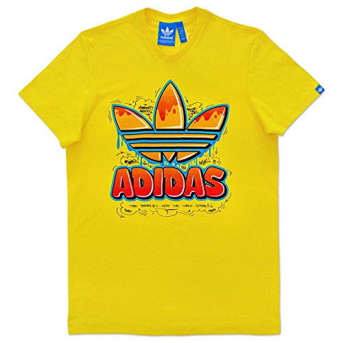 adidas Originals Trefoil Old School T-Shirt (S, gelb)