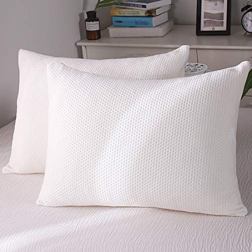 Memory Foam Pillow 2 Pack Standard Size for Neck Pain Cooling Bed Pillows Home & Hotel Collection with Removable Zipper Case