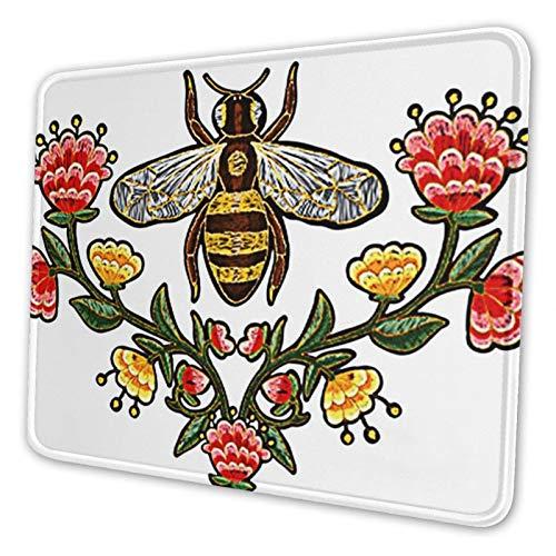 Mauspad Bienenblüten Insekt 038, 24x20cm Gaming Mauspad Matte Reibungslos Weich Rutschfester Gummi Basis für Pc Laptop