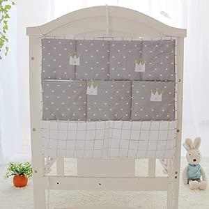Jenny Ben Crib bumper storage hanging bag Multi-function pocket Diaper bag Bedroom bedding Storage bag