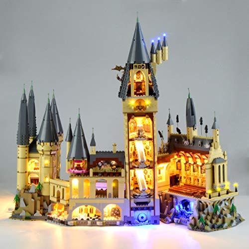 Seciie LED Beleuchtungsset LED Beleuchtung Kit für Lego Harry Potter Hogwarts Castle 71043 Modell