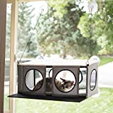 K&H PET PRODUCTS EZ Mount Penthouse Kitty Sill Gray/Black 19 X 23 X 9.5 Inches