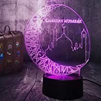 ムーンキャッスル3D LEDナイトライトクリエイティブホームデコレーション3Dビジョン3Dビジュアル照明7色変更USB充電テーブルランプ誕生日プレゼントエンターテイメント装飾ギフト子供のおもちゃ [並行輸入品]