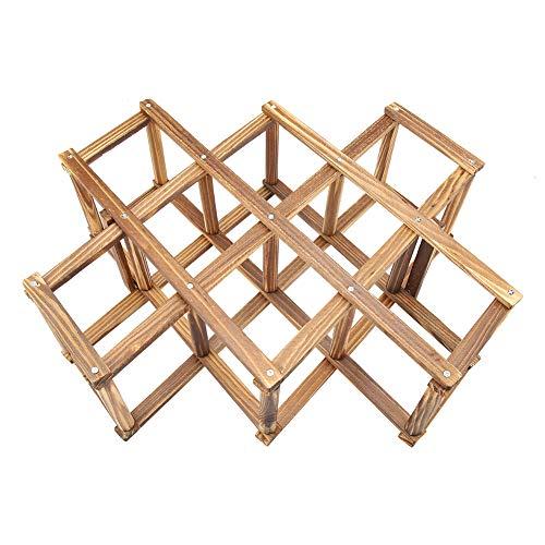 NCONCO Estante organizador de madera plegable para vino, ideal para los amantes del vino