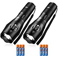 2-Pack Outlite S1000 LED Flashlight with 5 Modes