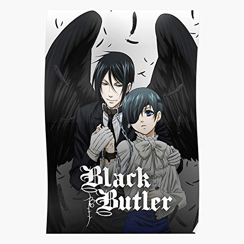 Cute Sleeve Black Ciel Butler Phantomhive Anime Kawaii Chibi | Impressive Posters for Room Decoration Printed with The Latest Modern Technology on semi-Glossy Paper Background