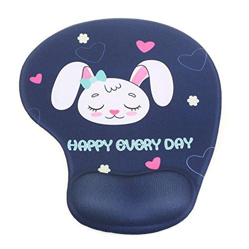 TUKA Mouse pad Alfombrilla de ratón con el cojín de muñeca de gel, Alfombrilla de ratón con gel, mouse pad gel, conejo durmiendo, TKC5100 sleeprabbit