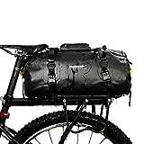 BAIGIO Sacoche de vélo étanche pour Porte-Bagages arrière de vélo 20 l, Homme, Noir