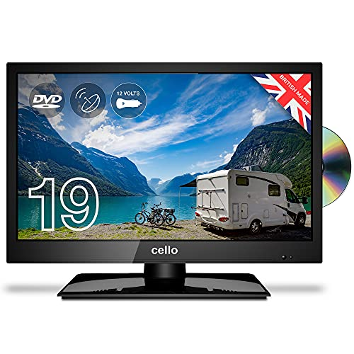 """Cello ZSF0291 12 volt 19"""" inch LED TV/DVD Freeview HD with Satellite Receiver 