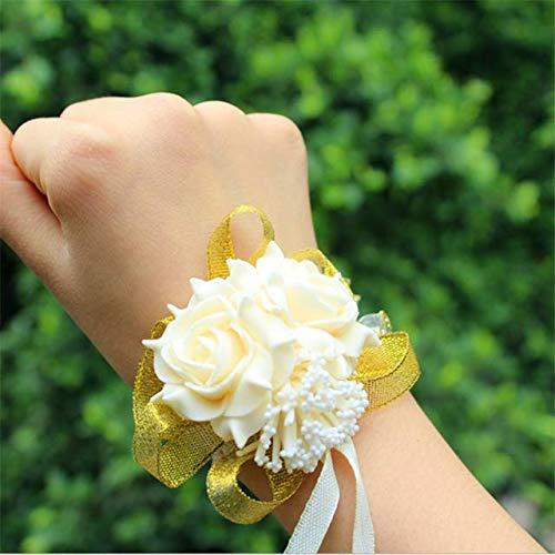 HTTER Kunstmatige Hand Bloem Armband Bruid Om Bruiloft Decoratie Bruidsmeisje Hand Bloemen Geschenken Bruiloft Party Decoratie