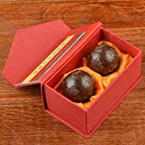 Baoding Boules, Balle de Handball, Ballon de Fitness, Handball pour Les Exercices de rééducation d'âge Moyen et âgé(48/50mm)
