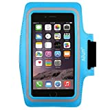 Ailun Armband,Feartured with Sport Scratch-Resistant Material,Slim Light Weight,Dual Arm-Size Slots,Sweat Resistant&Key Pocket,with Headphone Ports[Blue]