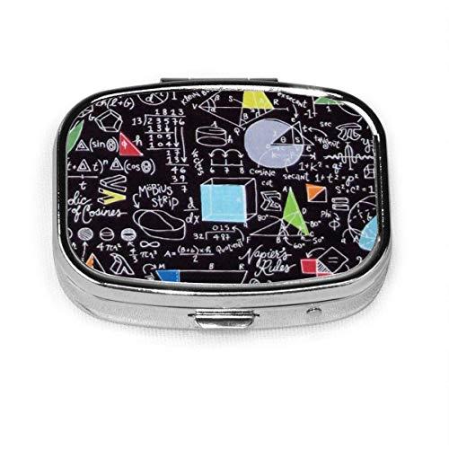 Caja de píldoras cuadrada de la manera de la química del sostenedor de la tableta del bolsillo del organizador del monedero