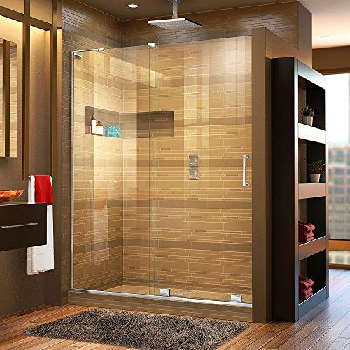 DreamLine Mirage-X 44-48 in. W x 72 in. H Frameless Sliding Shower Door in Chrome; Left Wall Installation