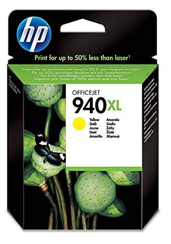 HP 940XL (C4909AE) Gelb Original Druckerpatrone mit hoher Reichweite für HP Officejet Pro 8500, HP Officejet Pro 8500A, HP Officejet Pro 8000