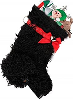 Hearth Hounds - Curly - Realistic Dog Stocking for Holidays, Christmas and Animal Lovers, Great Gift Bag for New Dog Owner Or Doggie Birthday