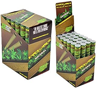 Cyclones Natural Flavored Pre-Rolled Hemp Wraps (Full Box, 48 Wraps)