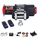4500Lb ATV/UTV Winch,12V Electric Winch with 49ft Cable,Wireless Winch Kit for SUV (2pcs Handle Wireless Remote Control and Removable Control Box),OPENROAD