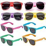 Eterspr 8 Pezzi Occhiali da Festa Colorati, Occhiali da Sole per Feste al Neon, Set di Occhiali da Sole del Partito in Plastica, per Carnevale, Feste, Hawaii, Viaggi all'aperto (8 Colori)