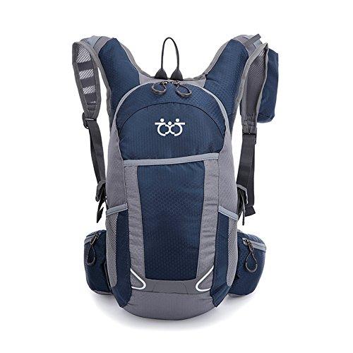 TXJ Sports 25L Hiking Backpack Lightweight Water Resistant Travel Hiking Daypack (Deep Blue)