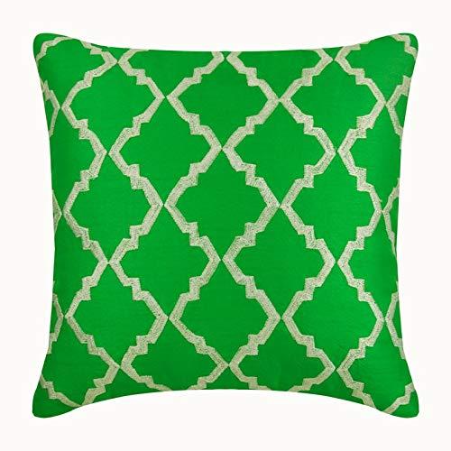 Moosonee Verde Fundas Cojines, 30x30 cm Fundas de Almohadas, Seda Fundas de Almohadas, Arte Deco El Modelo geométrico Moosonee Verde Fundas de Cojines Decorativos - Moosonee Green Envy