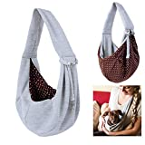 MQUPIN Pet Sling Carrier, Small Dog Carrier, Dog Sling, Hands-Free Cross-Body Carrier
