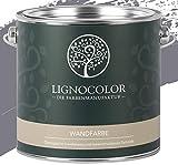 Lignocolor Wandfarbe Innenfarbe Deckenfarbe edelmatt 2,5 L (Thunderstorm) 60 Farbtöne