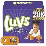 Luvs Triple Leakguards Diapers Size 3 132 Count