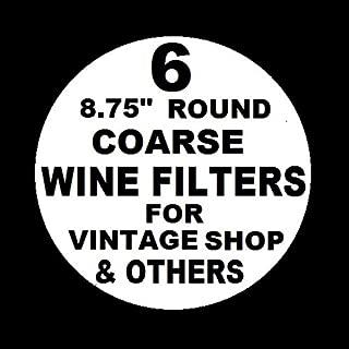 6 WINE FILTER PADS COARSE 8.75