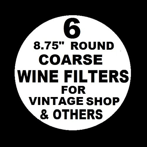 """6 WINE FILTER PADS COARSE 8.75"""" ROUND for Vintage Shop, Vinamat and other plate, air pressure, and electric wine filter frames"""