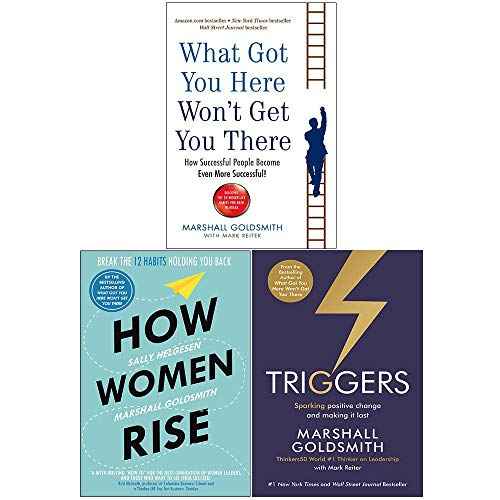 Price comparison product image What Got You Here Won't Get You There,  How Women Rise,  Triggers 3 Books Collection Set