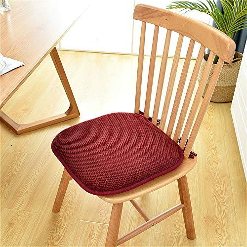 Almohadillas de espuma viscoelástica, cómodas para mesa de jardín, antideslizantes, para actividades al aire libre, camping, viajes, silla de oficina (2 unidades, 40 x 40 x 4 cm)
