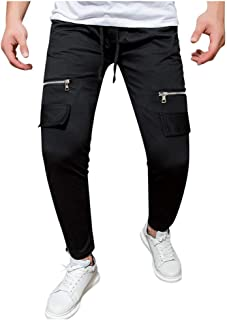 2019 Men Pants Casual Fashion Drawstring Straight Printed Stretch Loose Sweatpant Gym Bodybuilding Jogger Trousers 3XL