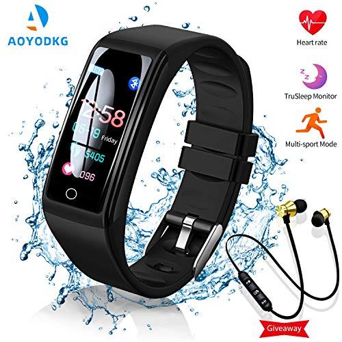 Smartwatch Orologio con Auricolare Sportivo Bluetooth, Smart Bracelet Activity Tracker e Fitness Tracker con 0.96'' Schermo, IP67 Impermeabile Pedometro e Notifiche di Messaggistica