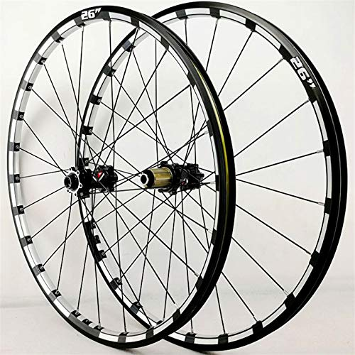 Accesorio de bicicleta de ejes de liberación rápid 26 27.5 29 pulgadas Mountain Bike Wheels Bicicleta Wheelset MTB RIM Disc Freno Ultralight Q / R 7 8 9 10 11 12 Velocidad Cassette Flywheel 24h 1750g