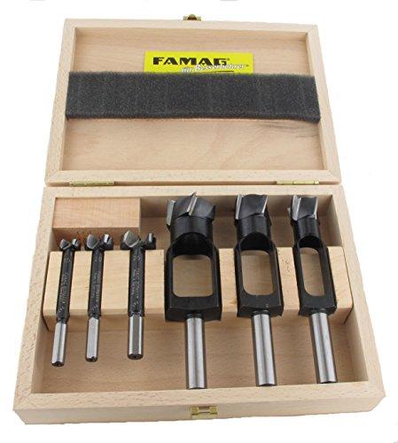 FAMAG Scheibenschneider-Satz WS 6-teilig Ø15,20,25mm + Bormax 1622 Ø15,20,25mm - 1628.306