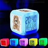 Réveil 7 LED couleur changeante réveiller chambre à coucher avec des données et...