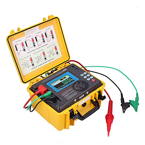 Probador de Resistencia de Aislamiento Digital de alto Voltaje ETCR3500, Probador de Aislamiento de Megóhmetro con Pantalla LCD con Diseño de caja Impermeable(EU Plug)