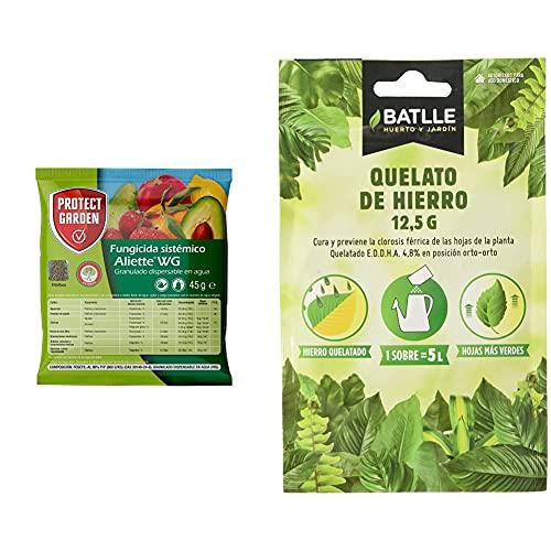 PROTECT GARDEN Fungicida Sistémico Aliette Wg, Ideal para Cesped, Coníferas Y Cítricos + Abonos - Fertilizante Quelato De...