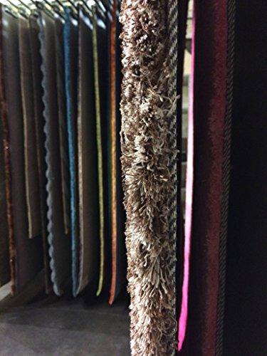 Meubletmoi Alfombra Déco diseño de Lunares de mechas mi Larga–Ambiance Cosy, poliéster, marrón, 160 x 230