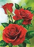 FJKEFJH Kits de Punto de Cruz Contado, mariposas de flores 40X50cm 14CT Conjunto de Kit de Punto de Cruz de Bordado DIY Tela a Mano Hilos de Color Dibujo de Aguja de paño de algodón