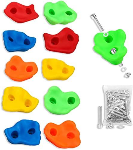 Textured Rock Climbing Holds for Kids with Installation Hardware by Crystal Lemon