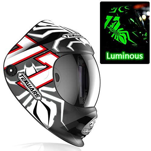 Hemispherical Large Viewing True Color Solar Powered Auto Darkening Welding Helmet, 4 Arc Sensor...