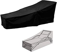 Patio Lounge Chair Cover 210D Waterproof Heavy Duty Durable Garden Sun Chaise Lounge Cover Fading UV Resistant Sunbed Cove...